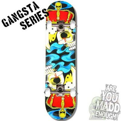 Madd Gear Gangsta Series Crowned Complete Skateboard