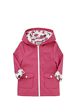 F&F Strawberry Cuff Hooded Mac - Pink