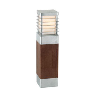 Galvanised Large Wooden Bollard E27 - 1 x 60W E27