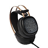 Promate Valiant Premium Over-Ear Wired Stereo Gaming Headset With In-Line Mic and LED lights - Black