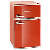 Montpellier MAB2030R Retro Style Under Counter Fridge Freezer - Red