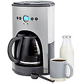 Andrew James Coffee Machine Maker, Reusable Filter, 1100W - Silver