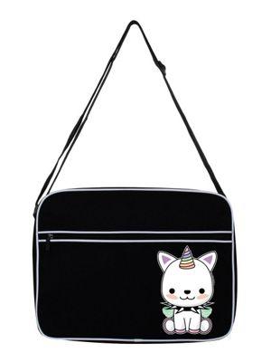 Rock Unicorn Black Shoulder Bag 38x33x11cm