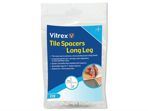 Vitrex Long Leg Spacer 2mm Pack of 1500