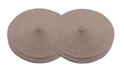 Alfresco Woven Circular Seat Pad Brown, Set of 2