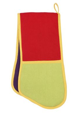 Rushbrookes Paintbox Colour Block Double Oven Glove