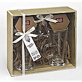 Gourmet Mulled Wine Gift Set for Two with Spices in Wooden Gift Box