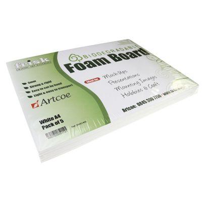 Biodegradable Foam Board - 5mm - White - A4 - 5pk