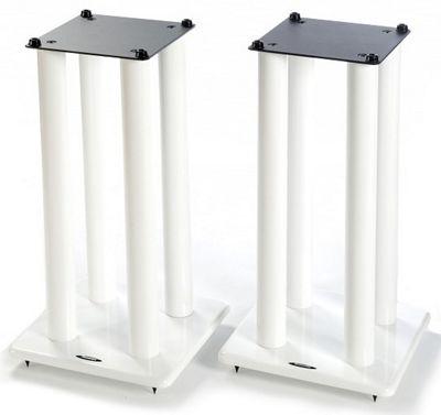 Atacama Speaker Stands in White - Height 600mm