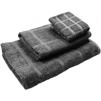 Homescapes Grey Turkish Cotton Hand Towel Berkeley Design