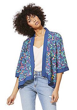 Mela London Butterfly Print Kimono - Blue