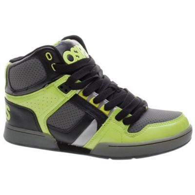 Osiris NYC 83 Kids Black/Lime/Charcoal Shoe