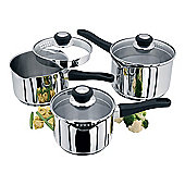 Judge Vista Stainless Steel Draining Saucepan Set 3 Piece Set