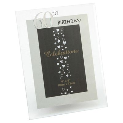 Glitzy 60th Photo Frame