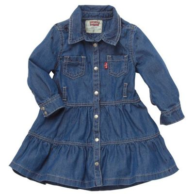 Girls Levis Nicky Dress - Indigo - 6M