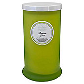 Tall Glass Pillar Jar with Lid Persian Lime