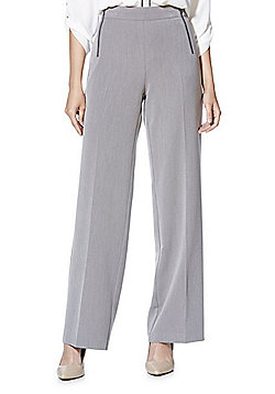 F&F Zip Detail Wide Leg Trousers - Grey