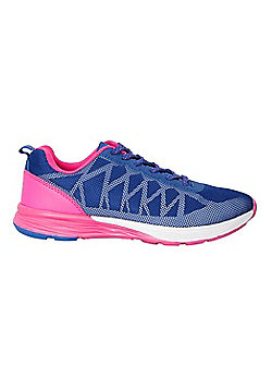 Zakti Girls Kids Low Flying Reflective Running Trainers with Rubber Outsole - Pink