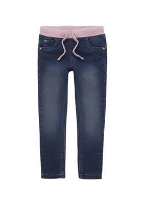 F&F Rib Waist Jeans Mid Wash 12-18 months