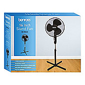 Benross 43830 Adjustable Oscillating 3-Speed Stand Fan, 50 W, Black