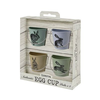 Eddingtons Vintage Hare Egg Cup Pails Set of 4