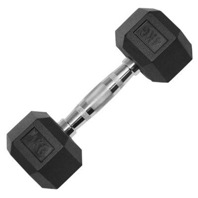 JLL Rubber Hex Dumbbell - 4kg