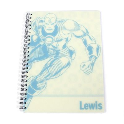 Marvel Personalised Pastel Iron Man Notebook