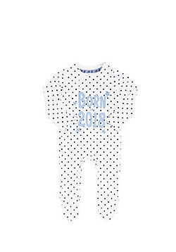 F&F Born in 2018 Star Print Sleepsuit - White