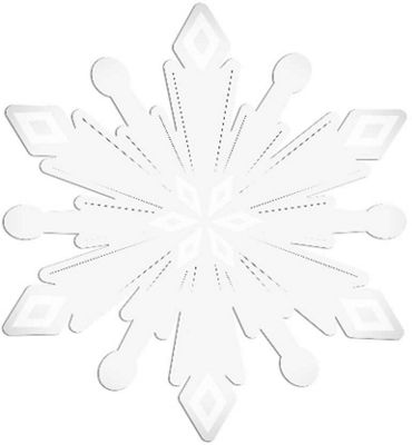 Frozen Snowflake Shaped, Safety Mirror 30cm