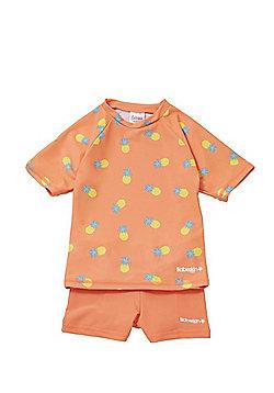 41e9341363 Babeskin Pineapple Print UPF50+ Rash Top and Shorts Set - Orange