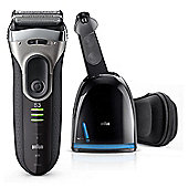 Braun 3090S Series 3 Electric Shaver with Cleaning Center