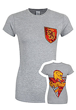 Harry Potter House Gryffindor Women's Grey T-shirt - Grey
