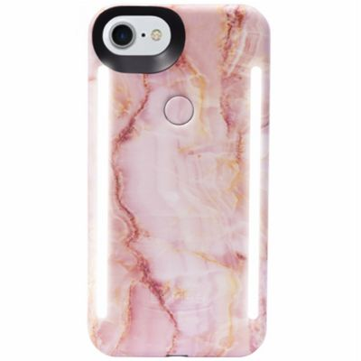 LuMee Duo LED Phone Selfie Case For iPhone 6/6S/7/8│Soft-Slim-Sleek│Pink Quartz