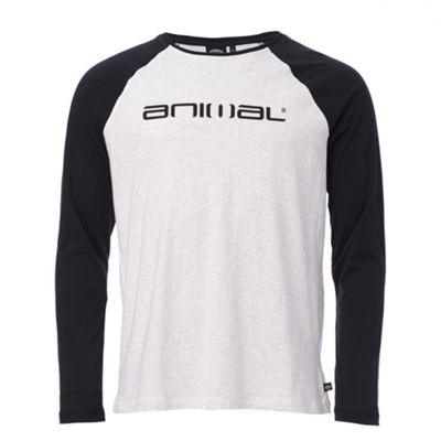 Animal Mens Action Long Sleeve T-Shirt Light Grey M