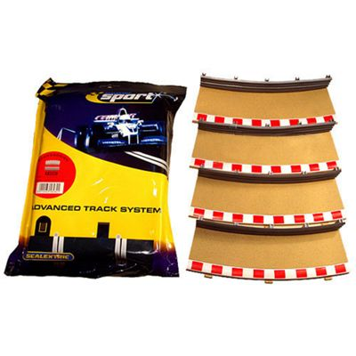 Scalextric C8282 4X Rad4 Inner Borders Barriers