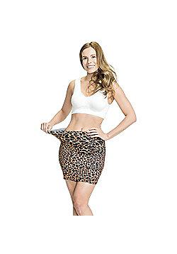 JML Trim 'N' Slim Skirt: Slimming Shapewear Skirt in Various Colours - Black & Leopard