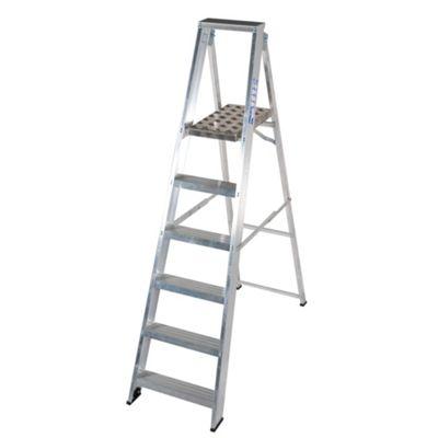 TB Davies Industrial Aluminium 6 Tread Platform Step Ladder