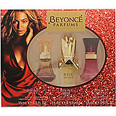 Beyonce Gift Set 15ml Heat EDP + 15ml Rise EDP + 15ml Wild Orchid EDP For Women