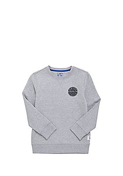 F&F Brooklyn Patch Sweatshirt with As New Technology - Grey