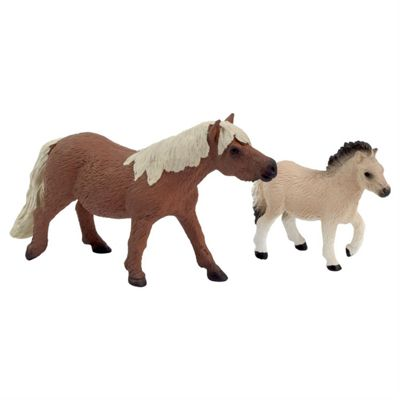Realistic Shetland Pony Horse & Foal Figurine Toys by Animal Planet
