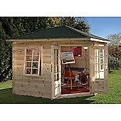 Forest Garden Wenlock Log Cabin 3.0m x 3.0m 28mm