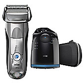 Braun 7898cc Series 7 Mens Rechargeable Wet & Dry Foil Electric Shaver - Silver