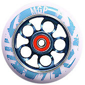 Madd Gear MGP Aero 110mm Scooter Wheel Including Bearings (Nitro Or) - Blue/White