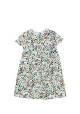F&F Floral Peter Pan Collar Dress Multi 12-18 months