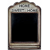 Home Sweet Home Wooden Wall Mounted Blackboard / Chalkboard - Brown / Black