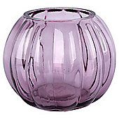 Floral Belle Purple Onion Vase