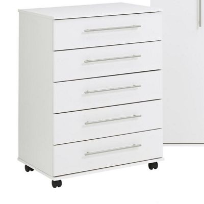 Ideal Furniture Bobby 5 Drawer Chest - White