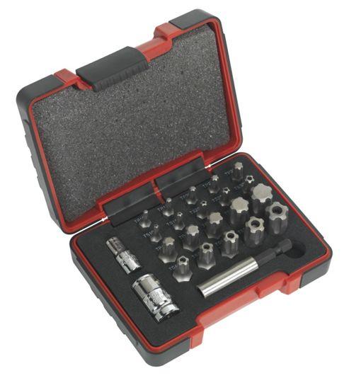 Sealey AK6226 - TRX-P & Security TRX-TS Bit Set 23pc 1/4inch & 3/8inchSq Drive