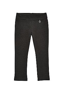 F&F School Girls Jersey Heart Trousers - Grey