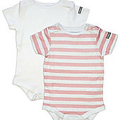 Bebelephant Dribble Stop Top 12-18 months (Pink/White)